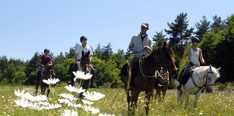 フランス・アルデーシュ渓谷乗馬