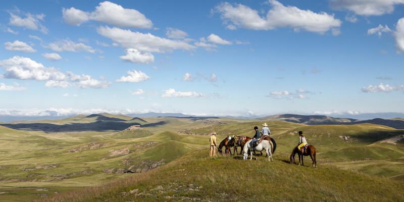 南アフリカ・レソト王国乗馬